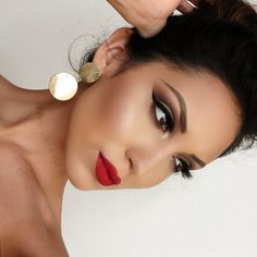 Makeup, wedding makeup ideas, red lips More