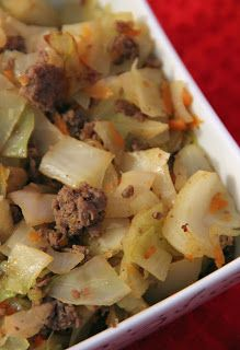 Fried Cabbage and Ground Beef...WW 9 ppts ..... Fiber wasn't listed so could be less ppts