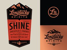 Longtucky Label Logos designed by Steve Hamaker. Connect with them on Dribbble; the global community for designers and creative professionals. Badge Design, Label Design, Packaging Design, Branding Design, Logo Design, Coffee Packaging, Bottle Packaging, Food Packaging, Typography Logo