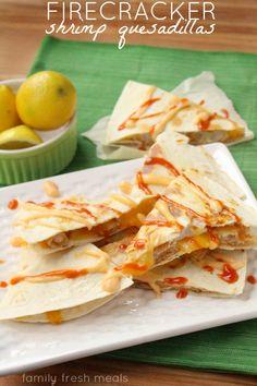 Firecracker Shrimp Quesadillas - FamilyFreshMeals.com