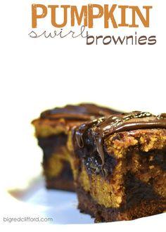 big red clifford: naughty pumpkin swirl brownies