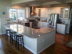 Kitchen Layout U Shaped, G Shaped Kitchen, U Shaped Kitchen With Breakfast Bar, Small U Shaped Kitchens, Best Kitchen Layout, Kitchen Layout Plans, Kitchen Layouts With Island, Layout Design, Küchen Design