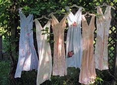 Vintage slips and dresses