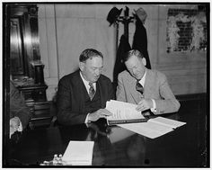 Senate majority and minority leaders. Washington, D.C. Jan 14. Senator Joseph T. Robinson, (left) Democratic Majority Leader, and Senator Ch… / leaders
