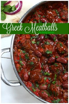 Greek Meatballs. Positively packed with flavor! daringgourmet.com