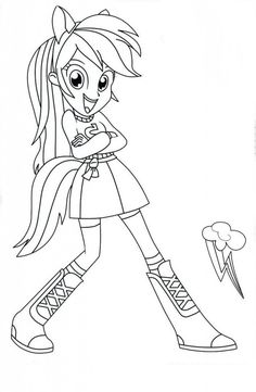 Coloriages à imprimer My Little Pony et Equestria Girls | Coloriage, Coloriage à imprimer et ...
