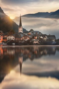 Hallstatt, Austria by Miguel Angel Martín Campos Reflection Pictures, Nature Pictures, Angel Martin, Beautiful World, Beautiful Places, Bad Gastein, Miguel Angel, World Heritage Sites, Dream Vacations