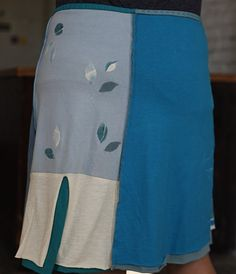 How I love Caitlin Bosco's Skirts: Big Blue Poppys (back) -- I have two, about to get my third.