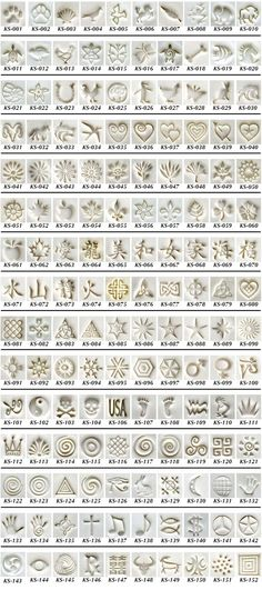 Best 12 Graphic Design – Pattern Design – KS Stamps in Clay – A great assortment of tools for jewelry, PMC or any other cr… Pattern Design : – Picture : – Description KS Stamps in Clay – A great assortment of tools for jewelry, PMC or any other c Ceramic Tools, Ceramic Clay, Ceramic Pottery, Clay Clay, Clay Stamps, Ceramic Texture, Clay Texture, Polymer Clay Tools, Polymer Clay Jewelry