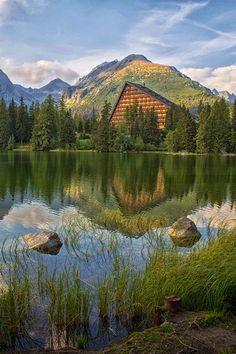 Reflections by Ľuboš Pokrivčák on (Štrbské Pleso, Slovakia) Waterfalls, National Parks, Mountains, Places, Nature, Travel, Naturaleza, Viajes, Destinations