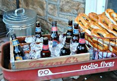 Throwing a party? Rather than turning to a standard cooler to keep drinks cool, take a page from blogger Denise Sabia's book and use a wagon or wheelbarrow as a more attractive alternative. Get the tutorial here. - CountryLiving.com