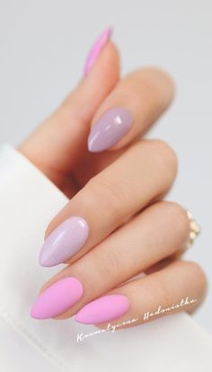 Classic, Elegant And Love French Manicure How-To, New 2019 - Page 10 of 30 Matte Pink Nails, Oval Nails, Cute Acrylic Nails, Acrylic Nail Designs, Cute Nails, Stylish Nails, Trendy Nails, Hair And Nails, My Nails