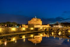 Castel Sant'Angelo - Rome, Italy- We stayed just behind the Castel.  Walked around but dodged crazy drivers!