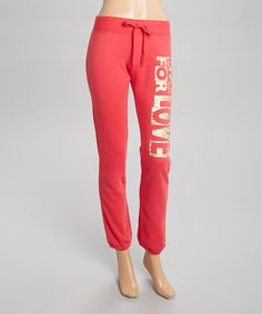 This Fuchsia 'Live for Love' Sweatpants - Women & Plus by Maze Collection is perfect! #zulilyfinds
