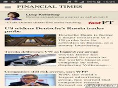 Financial Times  Android App - playslack.com ,  Get the Financial Times on your Android phone and tablet.* The app is automatically optimised for the screen size of your device, giving you the best experience of the FT in any format.Enjoy the FT's award-winning global news, video, comment and analysis, with automatic downloads of the most recent edition to read even when you don't have a signal.- Free to download- Registration allows 3 articles per month as well as giving access to your…