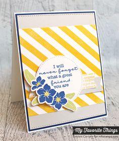 card MFT Blueprints 12 - forget me not - #mftstamps