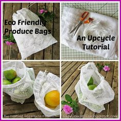 Creating my way to Success: Eco Friendly Produce Bags - an upcycle tutorial