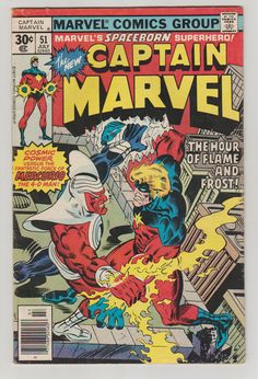 Captain Marvel V1 51. VF. July 1977.  Marvel by RubbersuitStudios #captainmarvel #comicbooks