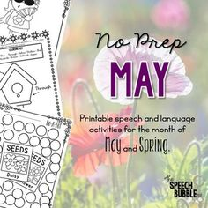 April showers bring May flowers and lots of stressful planning! Let this packet make those last few weeks of school easy for you. Want to use cute, seasonally themed activities but have no time to prep them all? This packet has 40+ pages of May and Spring themed activities to help save you time and bring some themed fun into your room.This packet contains print and go pages to help you target 16 different areas:4-5: May/Spring themed board games for reinforcement.6-7: May/Spring themed…
