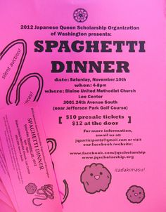 We can't wait to attend the Spaghetti dinner on next Saturday at 4PM.