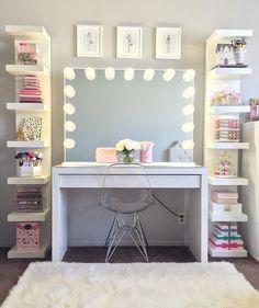 Bedroom Decor For Teen Girls, Cute Bedroom Ideas, Cute Room Decor, Girl Bedroom Designs, Teen Room Decor, Room Ideas Bedroom, Bedroom Small, Diy Bedroom, Bedroom Rustic