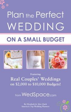 Plan the Perfect Wedding on a Small Budget....I need to remember this book!