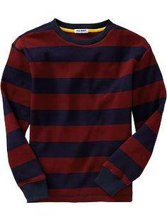 Boys Rugby Stripe Waffle-Knit Tees