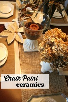 Use chalk paint on ceramics - DIY #candleholders #vases #ceramics #ASCP