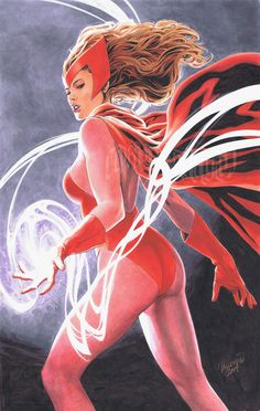 Scarlet Witch, in Jason Mazar's Commissions Comic Art Gallery Room Marvel Women, Marvel Heroes, Marvel Characters, Captain Marvel, Female Characters, Marvel Avengers, Marvel Females, Female Heroines, Marvel Art