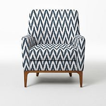 Living Room Accent Chairs & Upholstered Chairs | West Elm. A more eclectic way to go if we didn't do solid navy blue in the living room.