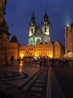 Old Town Prague: Old Town Prague at Night
