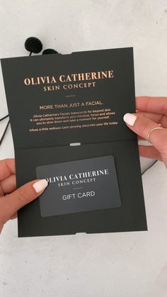 Gift voucher or gift card design black with clear foil on front. Gift Voucher Design, Business Gifts, Spa Business Cards, Cadeau Design, Vip Card, Bussiness Card, Certificate Design, Design Graphique, Free Gift Cards