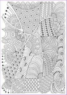 Zentangle art Pattern coloring page 14 for adult ...