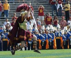 A Tribute to Troy -Clad in armor and wielding a sword instead of a baton, the drum major at the USC's Trojan Marching Band is undoubtedly one of the most visible figures in marching band. #drummajor