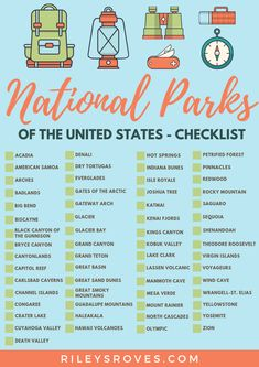 checklist national parks National Parks ChecklistYou can find National parks and more on our website National Parks Map, Zion National Park, Yellowstone National Park, Arcadia National Park, Vacation Places, Places To Travel, Family Vacations, Cruise Vacation, Disney Cruise