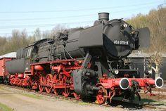 Dampflok der Baureihe 50, 1972 in Rheine