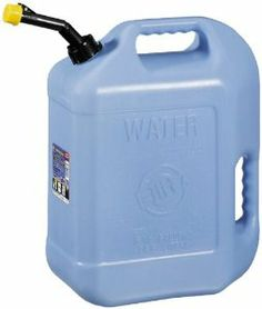 Hopkins FloTool Water Container --- Made of durable, rust- and dent-proof, high-density polyethylene with convenient back and top handles for easier pouring. The FloTool Water Can with 6-1/2 gallon capacity has a self-venting spout, and semi-transparent color.