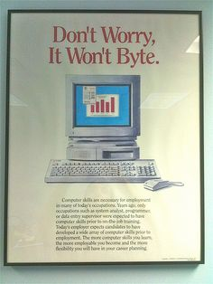 Old Computer Poster