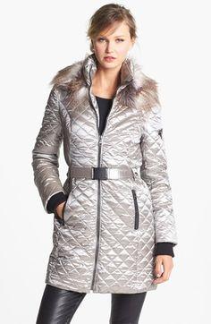 Sam Edelman Faux Fur Trim Down Coat (Online Only)