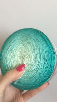 Crochet Yarn, Knitting Yarn, Hand Knitting, Knitting Ideas, Weaving Yarn, Organic Cotton Yarn, Yarn Cake, Yarn Inspiration, Sport Weight Yarn