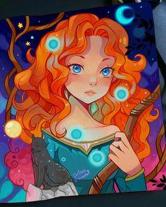 The Brave One by larienne on DeviantArt Disney Princess Drawings, Disney Princess Art, Disney Fan Art, Disney Drawings, Disney Dream, Cute Disney, Disney Magic, Disney And Dreamworks, Disney Pixar
