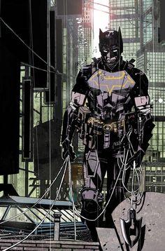 Comic Book Covers, Comic Books Art, Comic Art, Batman The Dark Knight, Batman Concept, Batman Redesign, Dc Comics, Batman Kunst, Univers Dc