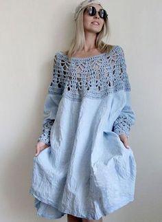 Out Long Sleeve Midi Shift Dress - Floryday @ Solid Hollow Out Long Sleeve Midi Shift Dress - Floryday @ Silk poncho wedding shrug silk crochet poncho silk fringed Crochet Fashion, Diy Fashion, Ideias Fashion, Crochet Clothes, Diy Clothes, Mode Crochet, Crochet Poncho, Knit Shrug, Crochet Top