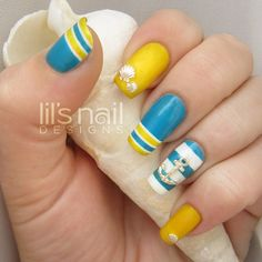 15 Fashionable Nail Designs with Anchor Patterns for Summer 2015 - Fashion Te
