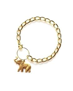 A cute bracelet with an elephant on it.  Must be the in thing.