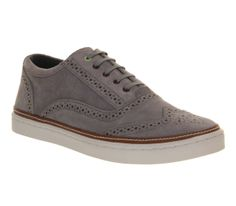 Ted Baker Hapra 2 Brogue Casual Grey Suede - Casual