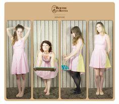 Séraphine, création Berthe en Bottes. Robe Vichy rose, esprit Brigitte Bardot