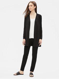Gorgeous Eileen Fisher Brown Kimono Blazer Jacket Silk Embroidered M Sufficient Supply Sz