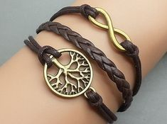 Life tree and Infinity Wish Charm BraceletBronze by Infinitywishes, $3.99