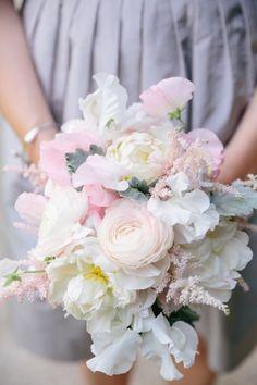 Middleton Place Wedding // Blush + White Bridesmaid Bouquet // Dana Cubbage Weddings // Charleston SC Wedding Photographer // www.danacubbageweddings.com